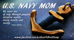 Navy mom.  Not to mention tears...