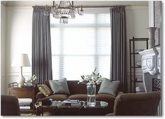 Hunter Douglas Silhouette Window Shadings combined with drapes