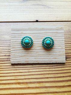 Turquoise studs Studs, Mint, Stud Earrings, Turquoise, My Style, Jewelry, Fashion, Moda, Jewlery