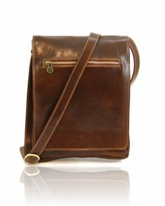 FABIO TL141005 Men's leather shoulder bag with front flap - Borsello uomo in pelle con pattella