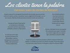 Los #clientes de #crowdlending de #MytripleA tienen la palabra. Para saber más pincha en la imagen. #Infografía