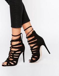ASOS COLLECTION ASOS HARPER Wide Fit Lace Up Heeled Shoes