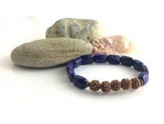 Náramek z minerálů Harmonie duše – lapis lazuli, rudraksha