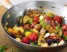 Cantinho Vegetariano: Stir Fry de Berinjela, Tomate e Tofu (vegana)