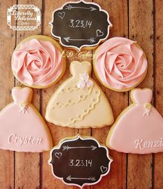 ~ we ❤ this!  moncheribridals.com ~ #weddingcookies #bridesmaidcookies