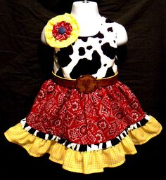Jessie inspired cowgirl butterfly knot dress. Toy Story. Cowgirl Fun. $75.00, via Etsy.