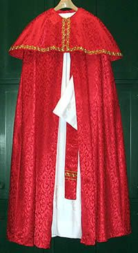 St Nicholas Costume pattern: miter, cloak, capelet, stole and alb/gown