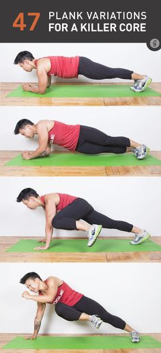 Here's a great list of various planking postures, just in case you get bore with the original! :)