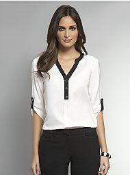 Women's Work & Casual Blouses - Silk, Peasant & Tunic Blouses - New York & Company