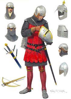 Armoured condottiere, Italian style, early 14th century:
