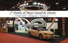 Stand para la Multinacional Norteamericana ENTERPRISE en la Feria Internacional del Turismo FITUR en el Recinto Ferial de Ifema en Madrid en Enero 2015