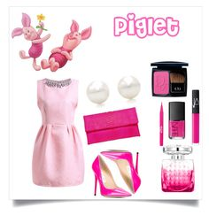 """Piglet"" by avisohanpal on Polyvore featuring Primary, Jimmy Choo, Tiffany & Co., NARS Cosmetics, Stila and Christian Dior"