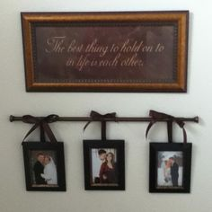 Curtain Rod for Picture Frame Display