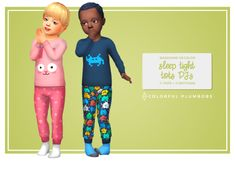 ☀️The Sweet Dreams tots PJs was so appreciated by many of you that I've decided to make another PJs for our little simmies. Furthermore, I'm using them a lot in my gameplay and I really needed some new designs. Sims 4 Toddler Clothes, Sims 4 Cc Kids Clothing, Toddler Cc Sims 4, Sims 4 Children, 4 Kids, Maxis, Sims 4 Stories, Pyjamas, Sims4 Clothes