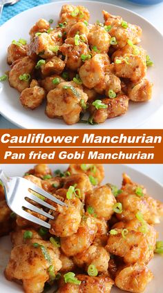 Gobi Manchurian, a delicious indo chinese starter made from cauliflower. Here in this recipe, cauliflower is pan fried instead of deep fried , still it tastes so good !! #indochineserecipe #gobimanchurian #cauliflowermanchurian