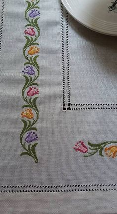 This Pin was discovered by Gul Cross Stitch Letters, Cross Stitch Heart, Cross Stitch Borders, Cross Stitch Samplers, Cross Stitch Flowers, Modern Cross Stitch, Cross Stitch Designs, Cross Stitching, Cross Stitch Embroidery