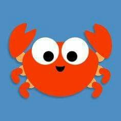 printable crab for Quiet Book. Fun Crafts To Do, Paper Crafts For Kids, Craft Activities, Toddler Activities, Circle Crafts, Sensory Art, Owl Tattoo Design, Sea Crafts, Ocean Themes