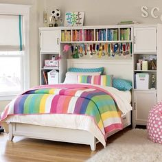 Henley Stripe quilt from PBteen. Love all the colors.