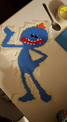 Perler Bead Mr. Meeseeks (Rick and Morty) by GingerPocky