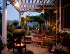 Lots of ideas for covered patios for whenever we move back to Florida