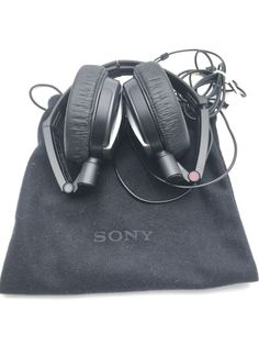 SONY MDR-NC7 NOISE CANCELLING STEREO HEADPHONES, BLACK with Carry Bag  #Sony Stereo Headphones, Over Ear Headphones, Carry Bag, Noise Cancelling, Sony, Bags, Handbags, Dime Bags, Lv Bags