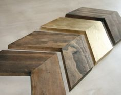Wooden Chevron Arrows. Wooden Arrow. Wood by ModernRusticBoutique
