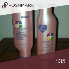 Pureology Shampoo and Conditioner Pure Volume Serious colour care, 8.5 FL oz For fine colour-treated hair. Never used Pureology Makeup