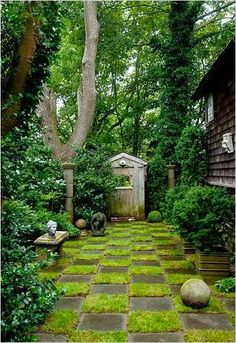 Checkerboard Garden...love this!