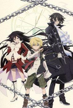 Pandora Hearts big postcard official Japan Oz Vessalius Gilbert Nightray Alice
