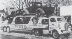 Vintage Cars Stop Using Direct Express Auto Transport and start using the BEST! Antique Trucks, Vintage Trucks, Toy Trucks, Fire Trucks, Lifted Trucks, Toy Hauler Trailers, Car Carrier, Ford Tractors, Drag Cars