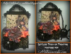 ♥Walkelmol♥ Halloween tag for Mbtreasurista Halloween Tags, Pretty Pictures, Trick Or Treat, My Design, Art Pieces, Mixed Media, Frame, Inspiration, Biblical Inspiration