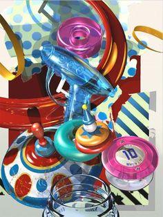 gary cody artist | Polka Dot Top by Gary Cody | The Art of Gary Cody Toys In The Attic, Still Life Artists, Hyper Realistic Paintings, 6th Grade Art, Still Life Drawing, Gcse Art, Realism Art, Photorealism, Art Sketchbook