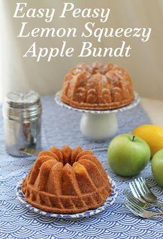 Food Lust People Love: Easy Peasy Lemon Squeezy Apple Bundt #BundtBakers