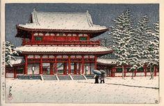 川瀬巴水「平安神宮の雪(京都)」