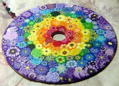 polymer clay millefiori Sunshine and Rainbows by polymerclaycreations, via Flickr