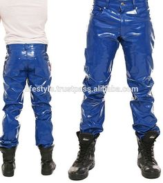 Nylons, Vinyl Clothing, Men's Clothing, Leather Jeans, Models, Shades Of Blue, New Look, Bambam, Handsome