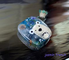 °° ON THE FLOE °° focal set lampwork bead by jasmin french