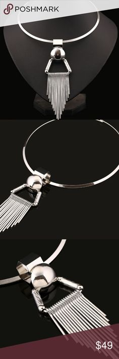✨Silver tassel necklace Gorgeous silver tassel necklace. New in package✨ Jewelry Necklaces