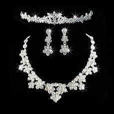 Gorgeous Alloy With Rhinestone Ladies' Jewelry Sets