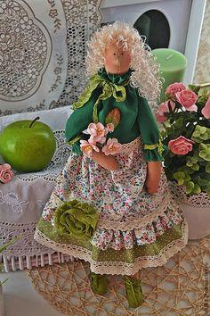Fabric Tilda toy / Куклы Тильды ручной работы. Заказать Кукла Тильда - Лизавета.. Липовый цвет. Ярмарка Мастеров. Куклы Тильда, куклы и игрушки
