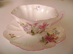 Pink Shelley stocks cup and saucer pink by TorontoTreasures