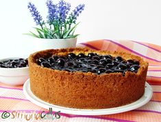 Cheesecake cu topping de afine
