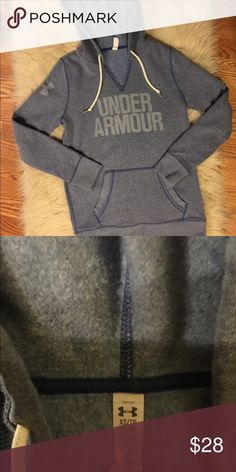 Under Armour Hoodie Light blue Under Armour hoodie sweatshirt in awesome condition! Under Armour Tops Sweatshirts & Hoodies