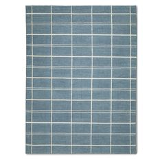 Plaid Flatweave Rug, Blue | Williams Sonoma Hand Knotted Rugs, Woven Rug, Crystal Light Fixture, Room Planner, Plaid Design, Williams Sonoma, Fabric Swatches, Shades Of Blue, Bedding Shop