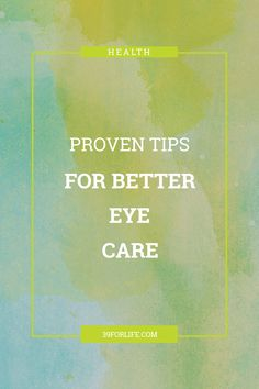 Use these proven tips for better eye care to ensure you keep your vision for many years to come. (Hint: it's not about eating carrots). Home Health, Health Tips, Health Care, Eating Carrots, Eye Vitamins, Assisted Living, Caregiver, Cool Eyes, Physical Fitness