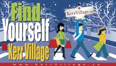Find Yourself in Kerr Village Ontario, Finding Yourself, Business, Store, Business Illustration