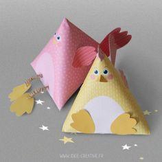 Kit de 4 berlingots cocottes à imprimer et à fabriquer soi-même #DIY #Pâques #Easter