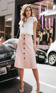 Swans Style is the top online fashion store for women. Shop sexy club dresses, jeans, shoes, bodysuits, skirts and more. Mode Outfits, Office Outfits, Skirt Outfits, Casual Outfits, Fashion Outfits, Fashion Ideas, Fashion Inspiration, Business Outfit Frau, Meeting Outfit
