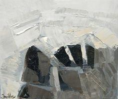 Toile de l'artiste Muriel Faille inspirée d'une citation du peintre Paul-Émile- Borduas