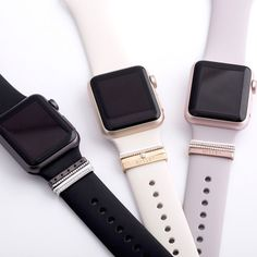 3 Glam Stacks for Apple Watch 38 and 42mm sport bands